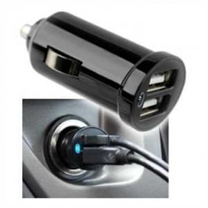 USB 12V KFZ-Ladeadapter Dual USB - Output 5V 1.2A - 2 USB Port - Schwarz