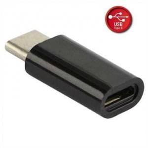 Adapter Micro-USB auf USB Typ-C - Schwarz