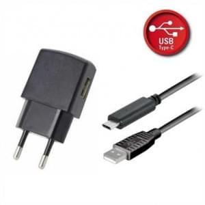Ladegerät / Netzteil USB Set 1A schwarz inkl. USB Typ C 2.0 Lade / Datenkabel 1,8 m
