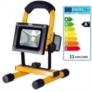 LED Akku Strahler 10W 4.4 Ah IP65 900 Lumen 6 Std. Arbeitszeit gelb