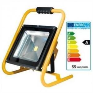LED Außen Akku Strahler IP65 50W 6.6 Ah 4000 Lumen dimmbar 3-12h Arbeitszeit gelb