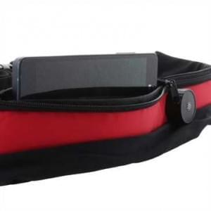 XiRRiX LED Sicherheits Bauch Lauf Gürtel + Handyfach Rot