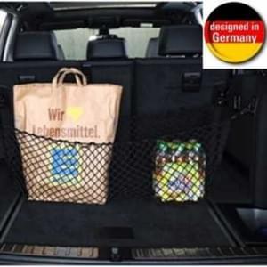 HR Auto Kofferraumnetz Gepäcknetz zum Einhängen für jedes Fahrzeug - 90 x 80 cm