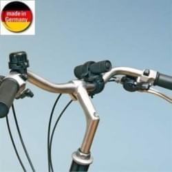 Fahrrad Power LED-Taschenlampe - mit 9 superhellen LEDs - Klemmbefestigung (Made in Germany)