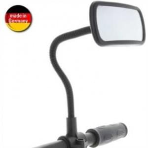Schwanhals Rückspiegel für Fahrrad / Mofa / E-Scooter / Rollstuhl / Rollato - Konvex Spiegel