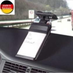 Auto Notizblock mit Kugelschreiber - Saugerbefestigung für Auto - schwarz (Made in Germany)