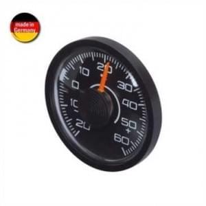 HR Innen Thermometer - selbstklebende Befestigung - Ø 46 x 12 mm - schwarz