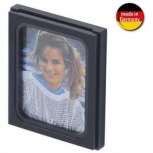 Auto Fotorahmen - selbstklebende Befestigung - 52 x 43 x 9 mm - schwarz (Made in Germany)
