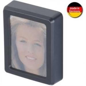 Auto Fotorahmen - selbstklebende Befestigung - 49 x 40 x 13 mm - schwarz (Made in Germany)
