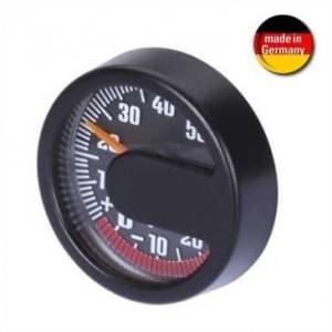 Thermometer mit Frostbereichanzeige - selbstklebende Befestigung - Ø 44 x 13 mm - schwarz