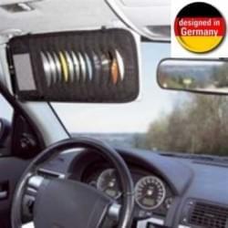 Auto CD Ablage für 12 CDs - CD Depot für Sonnenblende - Aufstecken auf die Sonnenblende
