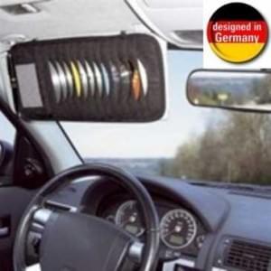 Auto CD-Ablage für 12 CDs - CD Depot für Sonnenblende - Aufstecken auf die Sonnenblende