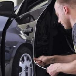 Auto Türkantenschutz - U-Profil - transparent - 6 x 8 x 640 mm - selbstklebend - 1 Paar