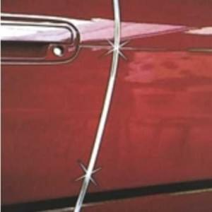 Auto Türkantenschutz - U-Profil - Chromausführung - 6 x 8 x 640 mm - selbstklebend - 1 Paar