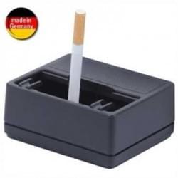 Auto Aschenbecher mit Schiebedeckel + Halterung - mit Glutstopp - selbstklebend - Schwarz