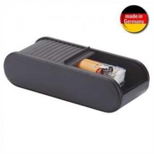 Auto Ablagebox - Selbstklebend - mit Rollladenverschluss - Größe: 45 x 72 x 168 mm - schwarz
