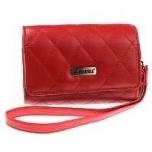 Krusell Avenyn Kamera Tasche Echt Leder - mit Handschlaufe - Innenmaß: 95 x 60 x 26 mm - Rot