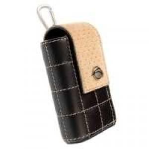 Krusell Sirius Kamera Tasche - Echt Leder - Innenmaß: 105 x 60 x 32 mm - Schwarz / Beige