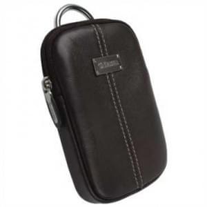 Krusell Luna Kameratasche mit Gürtelschlaufe - Innenmaß: 110 x 70 x 12 mm - Braun / Creme