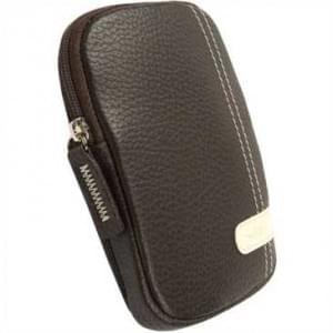 Krusell Gaia Kamera Tasche mit Gürtelschlaufe - Innenmaß: 115 x 75 x 14 mm - Braun