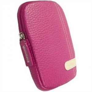 Krusell Gaia Kamera Tasche mit Gürtelschlaufe - Innenmaß: 115 x 75 x 14 mm - Pink