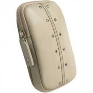 Krusell Kalix Kamera Tasche Echt Leder - Innenmaß: 110 x 70 x 12 mm - Sand