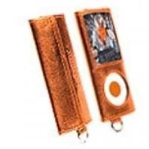 Krusell Encore Tasche für Apple iPod Nano 4G - Orangemetallic