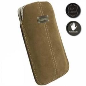 Krusell Tasche Pouch Wildleder Tasche Luna - M - Innen 100 x 45 x 16 mm - Braun