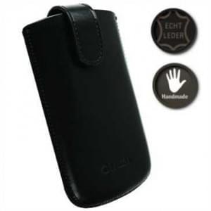 Krusell Echt Leder Tasche Asperö - Innenmaß: 116 x 59 x 10 mm - XL - Schwarz