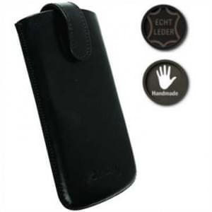 Krusell Echt Leder Tasche Asperö - Innenmaß: 125 x 64 x 10 mm - XXL - Schwarz