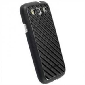 Krusell Alu Cover für Samsung Galaxy S3 Neo, S3 LTE, S3 - Gitter - schwarz