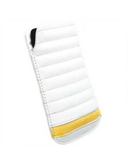 Krusell Idre Tasche Pouch IDRE 95435 - Größe: 3XL - Innenmaß: 133 x 71 x 10mm - Weiß/ Gelb