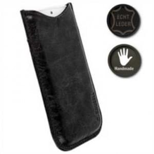 Krusell Tumba Echt Ledertasche Pouch Tasche - 3XL - Innenmaß: 136 x 70 x 10 mm - Vintage Schwarz