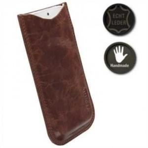 Krusell Tumba Echt Leder Pouch Tasche 3XL - Innenmaß: 136 x 70 x 10 mm - Vintage Braun