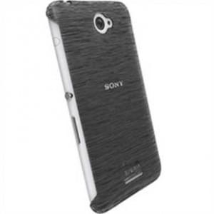 Krusell Frost Cover Partner für Sony Xperia E4 / Xperia E4 Dual - Schwarz Transparent