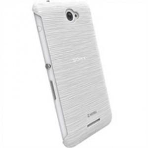 Krusell Frost Cover Partner für Sony Xperia E4/ Xperia E4 Dual - Weiß Transparent