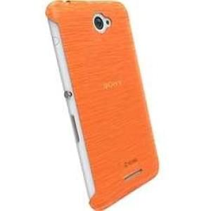Krusell Frost Cover Partner für Sony Xperia E4 / Xperia E4 Dual - Orange Transparent