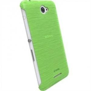 Krusell Frost Cover Partner für Sony Xperia E4 / Xperia E4 Dual - Green Transparent