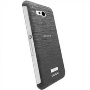 Krusell Frost Cover Partner für Sony Xperia E4g, Xperia E4g Dual - Schwarz Transparent