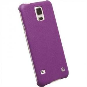 Krusell Malmö Texture Cover für Samsung Galaxy S5 SM-G900F - Galaxy S5 Neo SM-G903F - Purple