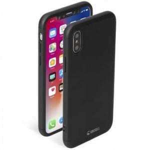 Krusell Arvika Hülle 360 Grad Rundumschutz Cover + Panzerglas für Apple iPhone X schwarz
