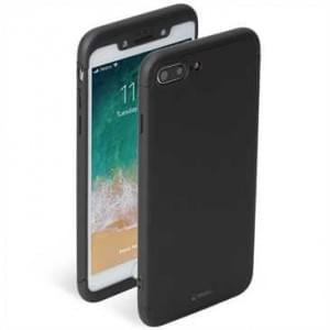 Krusell Arvika Hülle 360 Grad Rundumschutz Cover + Panzerglas für Apple iPhone 8 Plus / 7 Plus schwarz