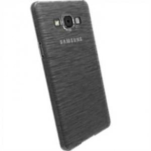 Krusell Frost Cover für Samsung Galaxy A7 SM-A700F - Transparent Schwarz