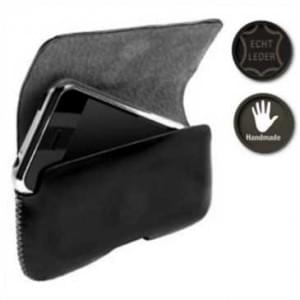 Krusell EchtLeder Hector Black Tasche - Größe: Medium wide - Innenmaß: 103 x 55 x 19 mm - Schwarz