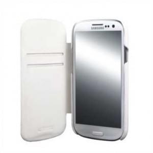 Krusell Tasche Donsö Flip Case für Samsung Galaxy S3 Neo, S3 LTE, S3 - Weiß