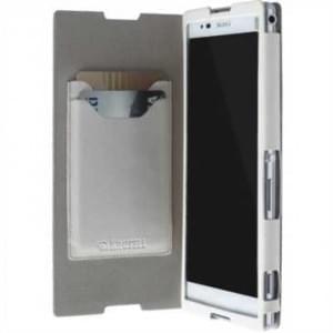 Krusell Tasche Malmö Folio Case Partner 75823 für Sony Xperia T2 Ultra - Weiß
