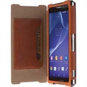 Krusell Tasche Kiruna Flip Case für Sony Xperia Z2 Camel