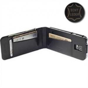 Krusell Tasche Kalmar Wallet Case  für Samsung Galaxy Alpha SM-G850F - Schwarz