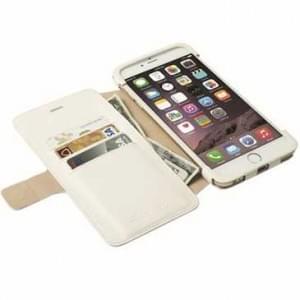 Krusell Tasche Malmö Folio Case Stand für Apple iPhone 6 / 6S Plus Weiß