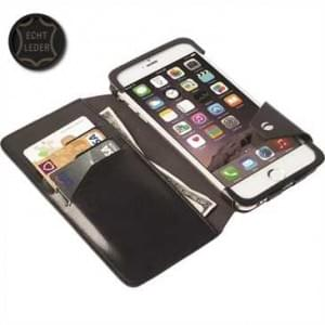 Krusell Tasche Kalmar Flip Wallet für Apple iPhone 6 Plus, iPhone 6S Plus - Schwarz
